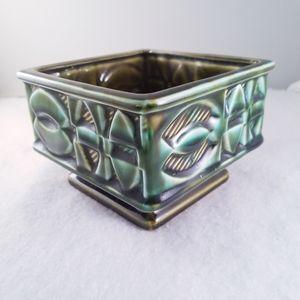 Vintage Caffco pottery emerald ceramic planter